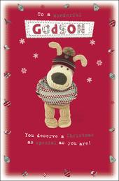 Boofle Wonderful Godson Christmas Greeting Card