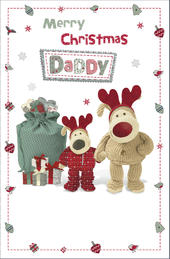 Boofle Daddy Christmas Greeting Card