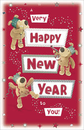 Boofle Happy New Year Christmas Greeting Card