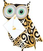 Wise Owl 3D Special Delivery Animal Greeting Card