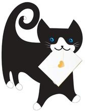 Black Cat 3D Special Delivery Animal Greeting Card