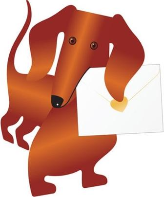 Sausage Dog 3D Special Delivery Animal Greeting Card