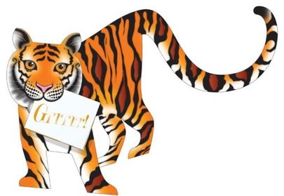 Tiger 3D Special Delivery Animal Greeting Card