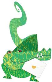 Crocodile 3D Special Delivery Animal Greeting Card