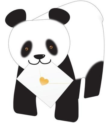 Panda 3D Special Delivery Animal Greeting Card