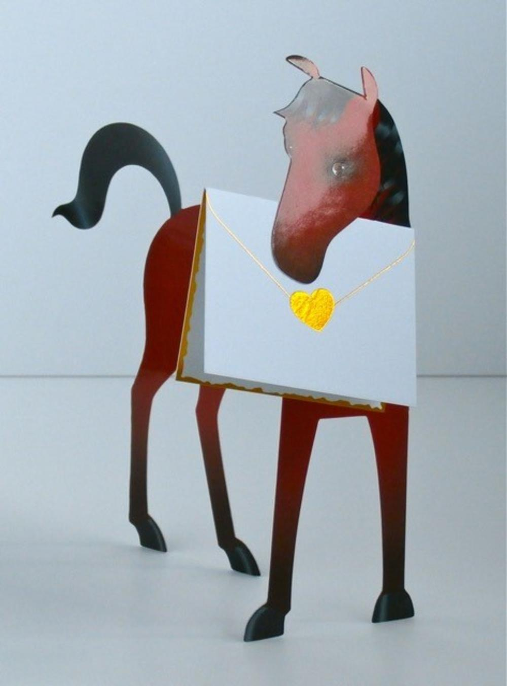 Horse 3d Special Delivery Animal Greeting Card Cards