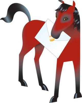 Horse 3D Special Delivery Animal Greeting Card