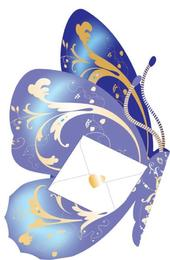 Butterfly 3D Special Delivery Animal Greeting Card