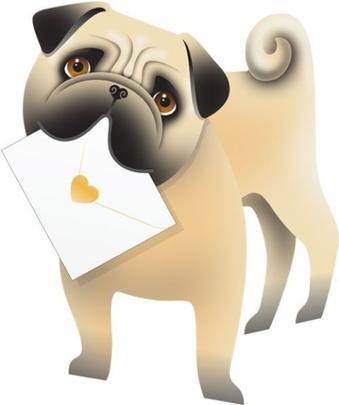 Pug Dog 3D Special Delivery Animal Greeting Card