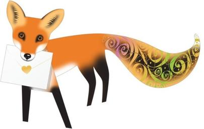 Fox 3D Special Delivery Animal Greeting Card