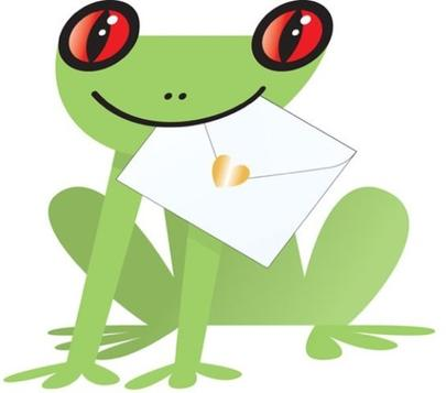 Green Frog 3D Special Delivery Animal Greeting Card