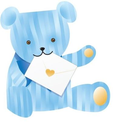 Blue Bear 3D Special Delivery Animal Greeting Card