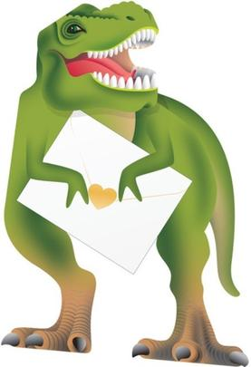 Dinosuar 3D Special Delivery Animal Greeting Card