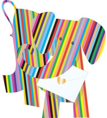 Elephant 3D Special Delivery Animal Greeting Card
