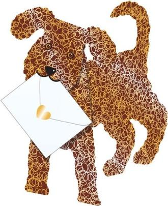 Cockapoo 3D Special Delivery Animal Greeting Card