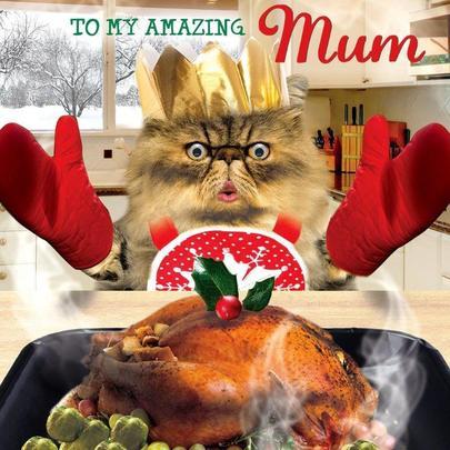 Amazing Mum Googlies Christmas Card