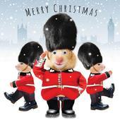 Queens Guard Googlies Christmas Card
