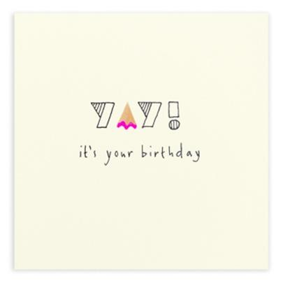 Yay It's Your Birthday Pencil Shavings Birthday Card