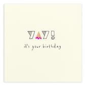 Yay It's Your Birthday Pencil Shavings Birthday Card