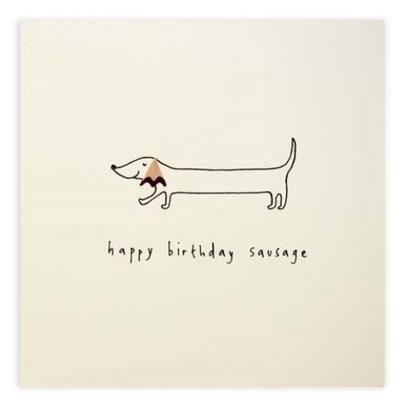 Happy Birthday Sausage Pencil Shavings Birthday Card