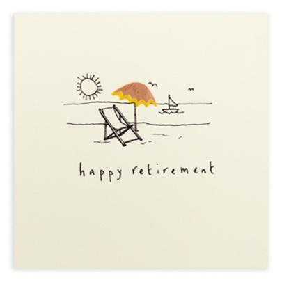 Happy Retirement Pencil Shavings Greetings Card