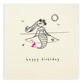 Mermaid Happy Birthday Pencil Shavings Birthday Card