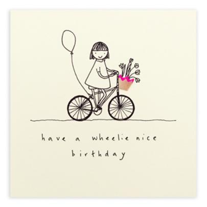 Wheelie Nice Birthday Pencil Shavings Birthday Card