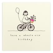 Wheelie Nice Birthday Pencil Shavings Birthday Card