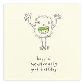 Monstrously Good Birthday Pencil Shavings Birthday Card
