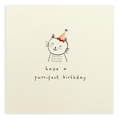 Purr-fect Birthday Pencil Shavings Birthday Card