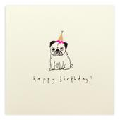 Pug Dog Happy Birthday Pencil Shavings Birthday Card