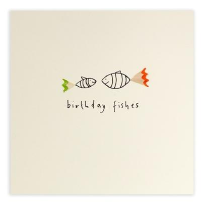 Birthday Fishes Pencil Shavings Birthday Card