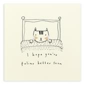 Feel Better Soon Pencil Shavings Greetings Card
