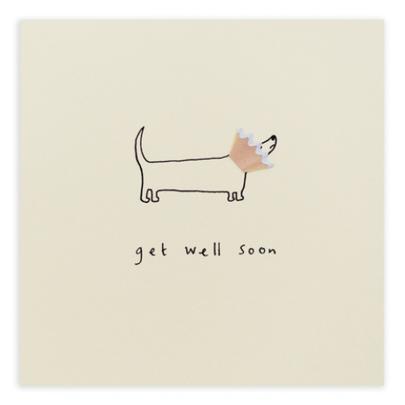 Get Well Soon Pencil Shavings Greetings Card