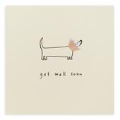 Get Well Soon Pencil Shavings Greetings Card