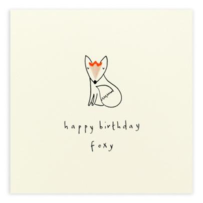 Foxy Birthday Pencil Shavings Birthday Card