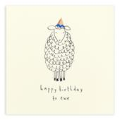 Sheep Happy Birthday To Ewe Shavings Birthday Card