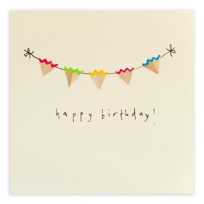 Bunting Happy Birthday Pencil Shavings Birthday Card