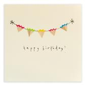 Bunting Happy Birthday Pencil Shavings Birthday Card
