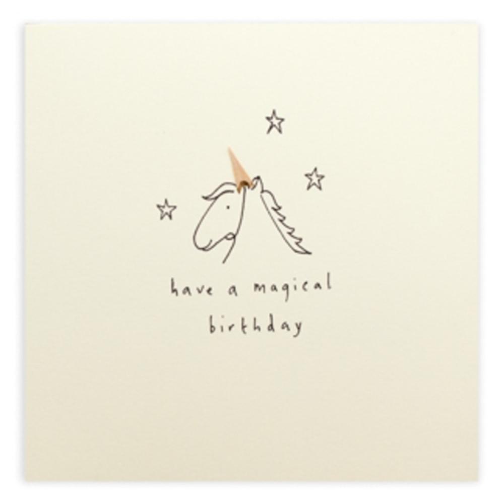 Unicorn Magical Pencil Shavings Birthday Card
