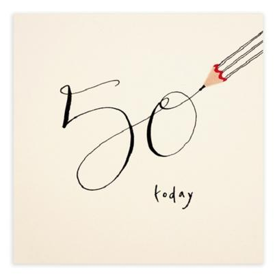 50 Today Pencil Shavings 50th Birthday Card