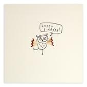 Owl Happy Birthday Pencil Shavings Birthday Card