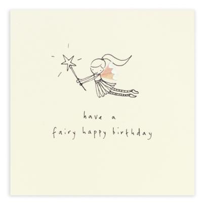 Fairy Happy Birthday Pencil Shavings Birthday Card
