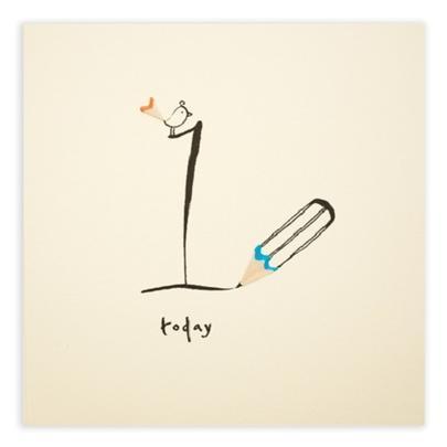 1 Today Pencil Shavings Boys 1st Birthday Card