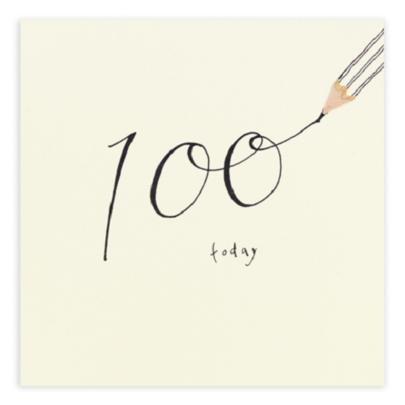 100 Today Pencil Shavings 100th Birthday Card