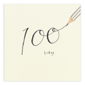 100 Today Pencil Shavings 100th Birthday Card