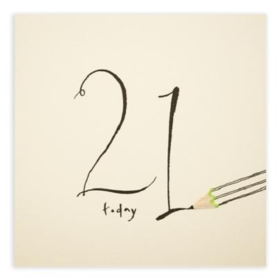 21 Today Pencil Shavings 21st Birthday Card