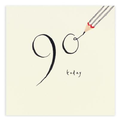 90 Today Pencil Shavings 90th Birthday Card