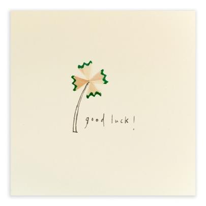 Good Luck Pencil Shavings Greetings Card