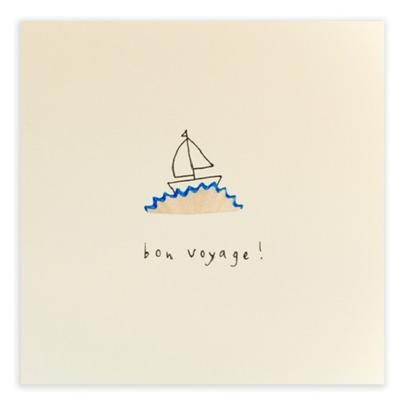 Bon Voyage Pencil Shavings Greetings Card